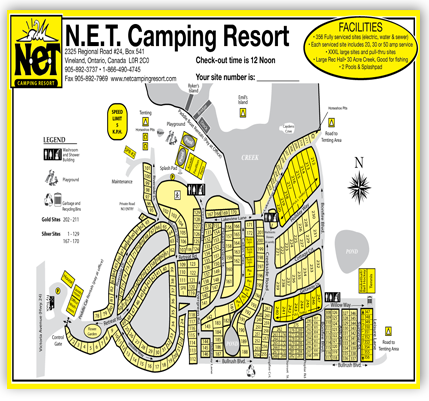 NET Camping Resort Map
