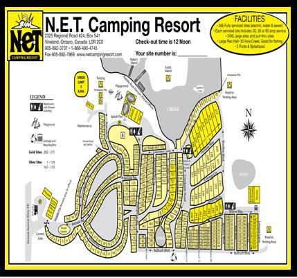 NET Camping Resort Map